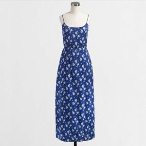 J Crew Floral Printed Maxi Dress